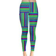 Fabric Pattern Design Cloth Stripe Leggings