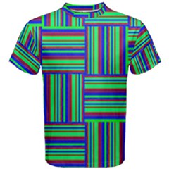 Fabric Pattern Design Cloth Stripe Men s Cotton Tee