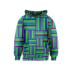 Fabric Pattern Design Cloth Stripe Kids  Pullover Hoodie