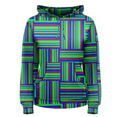 Fabric Pattern Design Cloth Stripe Women s Pullover Hoodie
