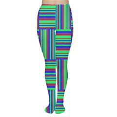 Fabric Pattern Design Cloth Stripe Women s Tights