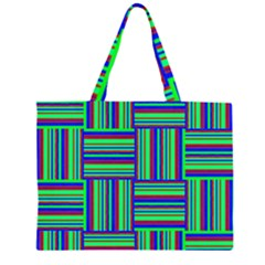 Fabric Pattern Design Cloth Stripe Large Tote Bag