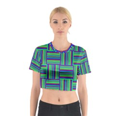 Fabric Pattern Design Cloth Stripe Cotton Crop Top