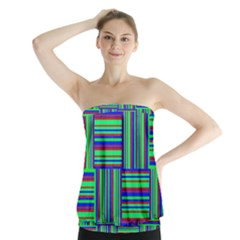 Fabric Pattern Design Cloth Stripe Strapless Top