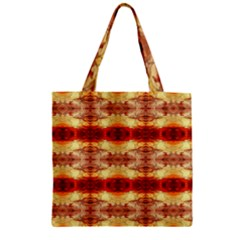 Fabric Design Pattern Color Zipper Grocery Tote Bag