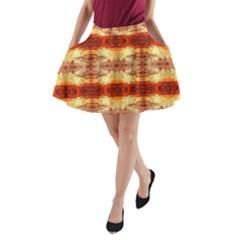 Fabric Design Pattern Color A-Line Pocket Skirt