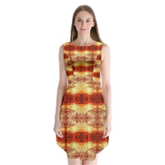 Fabric Design Pattern Color Sleeveless Chiffon Dress