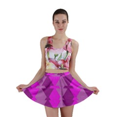 Fabric Textile Design Purple Pink Mini Skirt