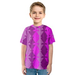 Fabric Textile Design Purple Pink Kids  Sport Mesh Tee
