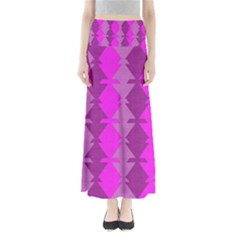 Fabric Textile Design Purple Pink Maxi Skirts