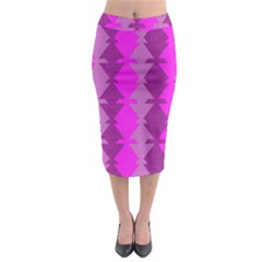 Fabric Textile Design Purple Pink Midi Pencil Skirt