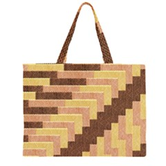 Fabric Textile Tiered Fashion Large Tote Bag