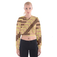 Fabric Textile Tiered Fashion Women s Cropped Sweatshirt