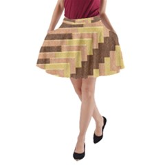 Fabric Textile Tiered Fashion A-Line Pocket Skirt