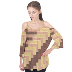 Fabric Textile Tiered Fashion Flutter Tees