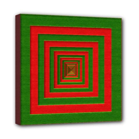 Fabric Texture 3d Geometric Vortex Mini Canvas 8  x 8