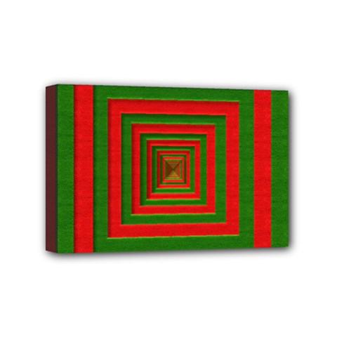 Fabric Texture 3d Geometric Vortex Mini Canvas 6  X 4
