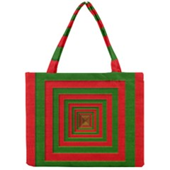 Fabric Texture 3d Geometric Vortex Mini Tote Bag