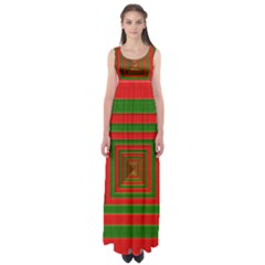 Fabric Texture 3d Geometric Vortex Empire Waist Maxi Dress