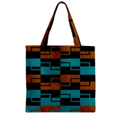 Fabric Textile Texture Gold Aqua Zipper Grocery Tote Bag