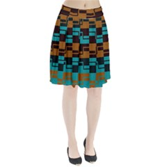 Fabric Textile Texture Gold Aqua Pleated Skirt