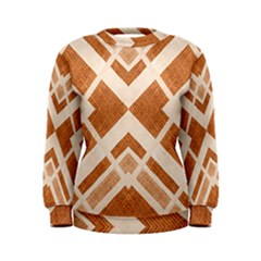 Fabric Textile Tan Beige Geometric Women s Sweatshirt