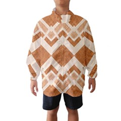 Fabric Textile Tan Beige Geometric Wind Breaker (Kids)