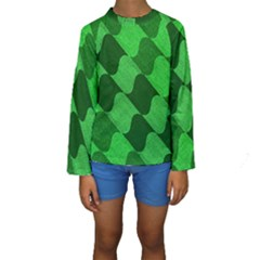 Fabric Textile Texture Surface Kids  Long Sleeve Swimwear