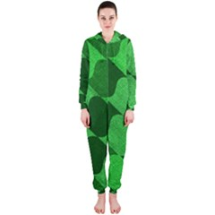 Fabric Textile Texture Surface Hooded Jumpsuit (ladies)