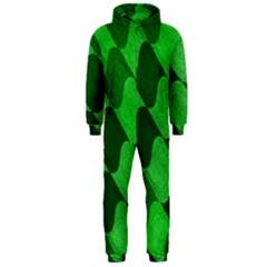 Fabric Textile Texture Surface Hooded Jumpsuit (Men)
