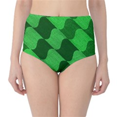 Fabric Textile Texture Surface High-Waist Bikini Bottoms