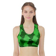Fabric Textile Texture Surface Sports Bra with Border