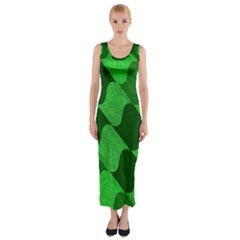 Fabric Textile Texture Surface Fitted Maxi Dress