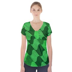 Fabric Textile Texture Surface Short Sleeve Front Detail Top