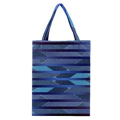 Fabric Texture Alternate Direction Classic Tote Bag