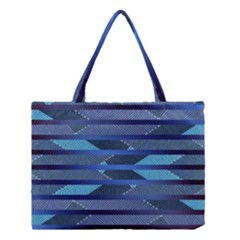 Fabric Texture Alternate Direction Medium Tote Bag