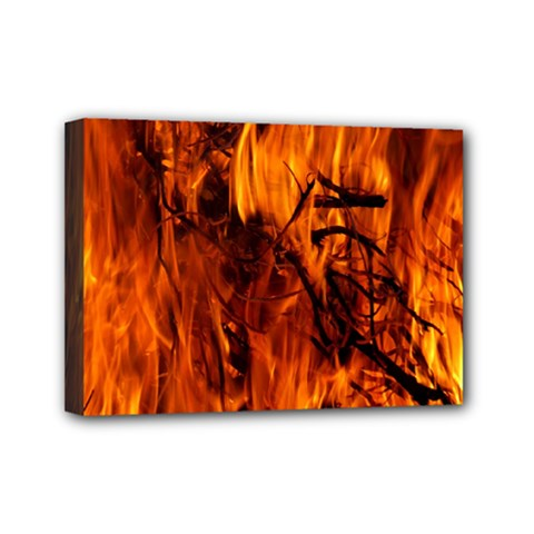 Fire Easter Easter Fire Flame Mini Canvas 7  x 5