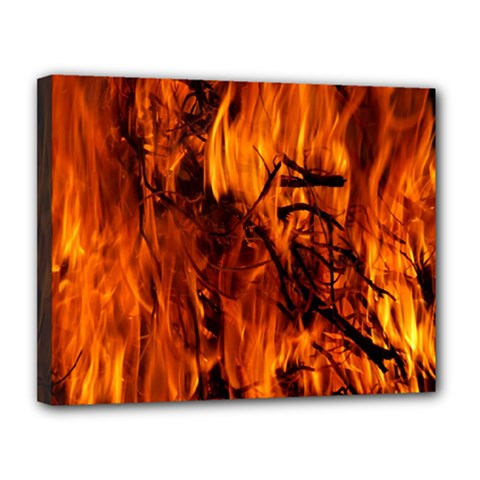 Fire Easter Easter Fire Flame Canvas 14  x 11