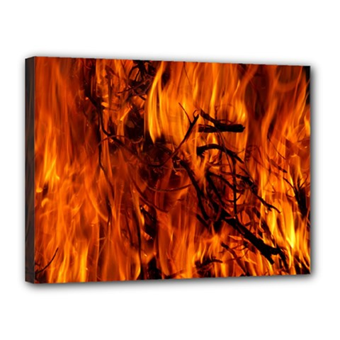 Fire Easter Easter Fire Flame Canvas 16  x 12
