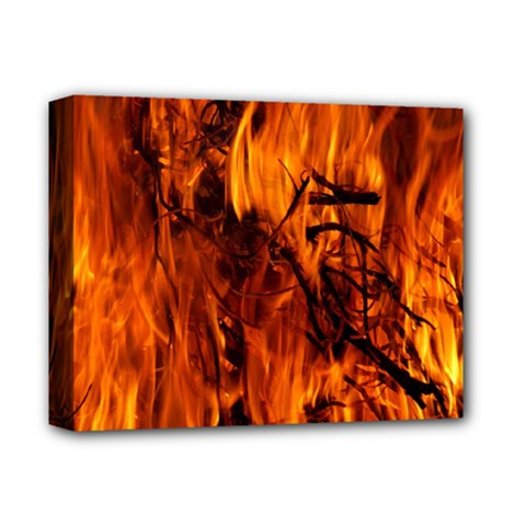 Fire Easter Easter Fire Flame Deluxe Canvas 14  x 11