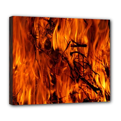 Fire Easter Easter Fire Flame Deluxe Canvas 24  x 20