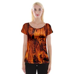 Fire Easter Easter Fire Flame Women s Cap Sleeve Top