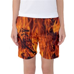 Fire Easter Easter Fire Flame Women s Basketball Shorts