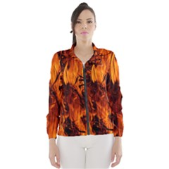 Fire Easter Easter Fire Flame Wind Breaker (Women)