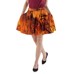 Fire Easter Easter Fire Flame A-Line Pocket Skirt