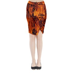 Fire Easter Easter Fire Flame Midi Wrap Pencil Skirt