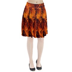 Fire Easter Easter Fire Flame Pleated Skirt