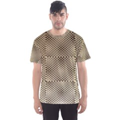 Fashion Style Glass Pattern Men s Sport Mesh Tee