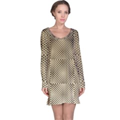 Fashion Style Glass Pattern Long Sleeve Nightdress
