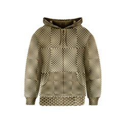 Fashion Style Glass Pattern Kids  Zipper Hoodie